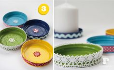 DIY Saturday –  Make Candle Plates From Old Lids