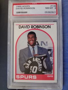 david robinson 1989 hoops #138 rookie card  psa 8 nm-mint finish your set #2921 from $1.99