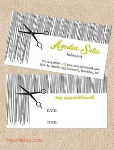 hairstylist business cards, hair stylist business cards, hair salon business cards, hairdresser business cards, simple hairstylist cards, vintage hairstylist business cards