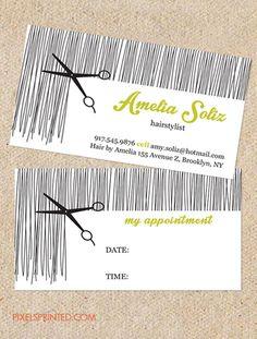 hairstylist business cards, hair stylist business cards, hair salon business cards, hairdresser business cards, simple hairstylist cards, vintage hairstylist business cards