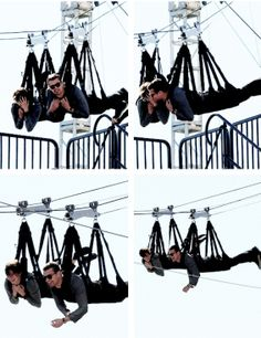 Ziplining together! They never got to do it together in the book :( ~Divergent~ ~Insurgent~ ~Allegiant~