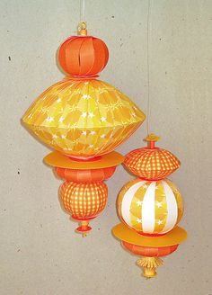 paper ball ornament for Diwali....Good one..