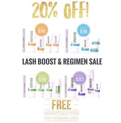 Flash Sale!! If you've ever wanted to try R+F now is the time!!! Receive 20% off a regimen and Lash Boost Bundle!! Become a preferred customer and save an additional 10% and receive free shipping!!! Message me for additional details or order at lauraparnell.myrandf.com. Order through this weekend and receive a free Essentials item!