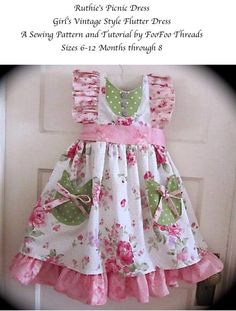 Sew Very Rachel FB Patterns Ruthie's Picnic Dress FooFoo threads