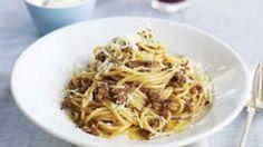 Ragu di manzo with spaghetti