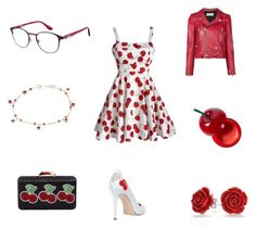 """""""Cherry Design Outfit"""" by nerdyglassesgirl on Polyvore featuring Camilla Elphick, Yves Saint Laurent, Tony Moly, Carrera, Annoushka, KOTUR and Bling Jewelry"""