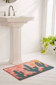 Batgroom - Bath Mat and Sink (Also the wallpaper and tiles)