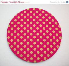 SALE  Mouse Pad mousepad / Mat  round  Shiny gold polka by Laa766  chic / cute / preppy / computer, desk accessories / cubical, office, home decor / co-worker, student gift / patterned design / match with coasters, wrist rests
