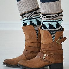 The Key to Winter Warmth ~ cute leg warmers!