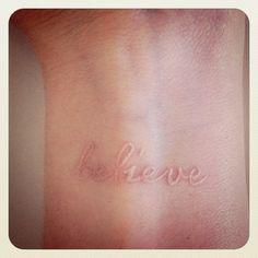 I love white ink tatoos
