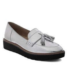 9e8e35a0049 Another great find on  zulily! Silver August Leather Loafer - Women   zulilyfinds Tassel