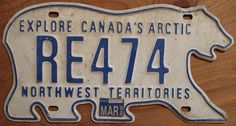 NWT polar bear license plate