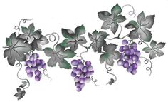 Large Grape VIne | Designer Stencils