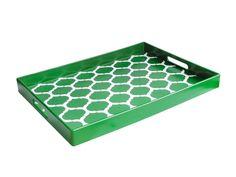 "American Atelier Garden Lattice 14"" x 19"" polypropylene tray, $25, bloomingdales.com"