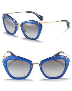 0454a8407ba Glitter vintage cateye sunglasses by Miu Miu Stylish Sunglasses