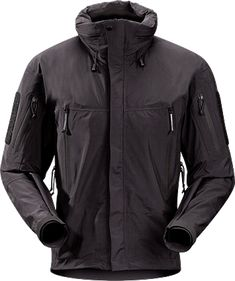 Arc'teryx's ALPHA jacket. Waterproof shell with GORE-TEX material.