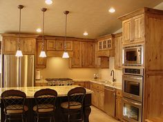 knotty alder cabinets kitchen   LEC Cabinets: Rustic Knotty Alder Cabinets