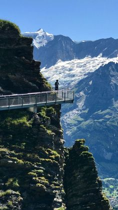 First Cliff Walk by Tissot, Grindelwald, Switzerland — by Sharon Thomas - First Cliff Walk by Tissot, Grindelwald, Switzerland – My son and I… - Switzerland In Winter, Places In Switzerland, Switzerland Vacation, Grindelwald Switzerland, Dream Vacations, Vacation Spots, The Places Youll Go, Places To See, Viajes
