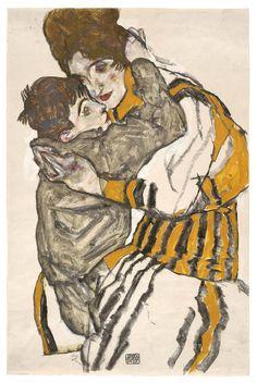 Egon Schiele - Schiele's Wife with her Little Nephew 1915