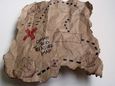 Pirate Birthday Party Captain Hook Treasure Map by Kelly Griglione, via Flickr