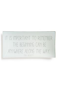 It is important to remember the beginning can be anywhere along the way.