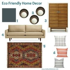 Is it possible to decorate your home stylishly and still be eco conscious? Yes, and you can start by check out these Eco-Friendly Home Decor Ideas. Home Doctor, Purple Couch, Ikea Dresser, Old Cds, Modern Side Table, Eco Friendly House, Home Decor Pictures, Little Houses, Small Apartments
