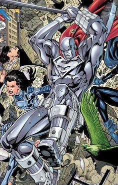 Dc Comics Heroes, Comic Book Superheroes, Comic Books, Lar Gand, Val Zod, Steel Dc, General Zod, Big Barda, Univers Dc