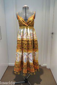 ONE Size Ishka Ladies Maxi SUN Dress Boho Hippie Gypsy Tribal Casual Beach   eBay