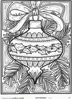 Old school Christmas coloring pages- mommy will probably be doing a few of these as well ;)
