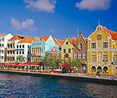 the beautiful, colorful waterfront in Willemstad, Curacao ... a World Heritage site.