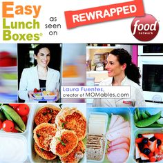 Laura Fuentes competes on Food Network's REWRAPPED. Laura packs lunches in EasyLunchboxes Lunch Snacks, Box Lunches, Easy Lunch Boxes, Lunch Containers, Food Network Recipes, Kids Meals, Packing Ideas, Lunchbox Ideas, Healthy Recipes