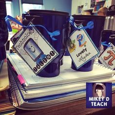 I have the best friends!!! Not only did Melissa BUY this, but then she sent me her idea for using the Teacher and Staff Brag Tags! LOVE THIS!!!!! Thanks, Melissa!  https://www.teacherspayteachers.com/Product/Teacher-and-Staff-Brag-Tags-2196894