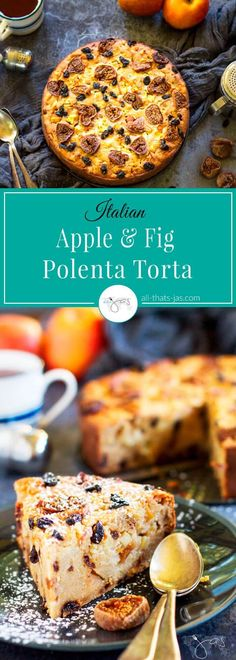 An extraordinary cake for your ordinary day, this Italian apple and fig torta is made with simple ingredients yet is anything but plain.  Inside you will find Honeycrisp apples, dried figs, raisins, golden polenta, orange and lemon zest, honey, and olive oil.