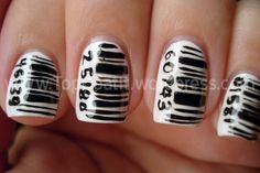 Not my favorite. I wouldn't do this to myself.. but Barcode Nails.