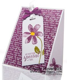 June Stamp-A-Stack #3: Razzleberry Blossom