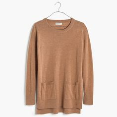This sweater is 100 percent cashmere, and its long, relaxed fit, high side vents and patch pockets also make it 100 percent cool. Pair it with our Skinny Skinny Jeans for an effortless look. $198