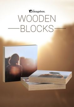 """Prices start from £10. Your photos will be added to one of our high quality wooden blocks showing your favourite memories. Our blocks come in 3 different edge options - oak, white and black and are topped off with a satin finish. These are perfect as a desktop product or for a shelf in your home. Buy one block on its own or as a 3 pack. The sizes of a single wooden block range from 5"""" x 5"""" up to 20"""" x 20"""". The thickness of this fabulous product is 20mm. Visit our website for more details…"""