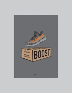 Originally created Yeezy 350 v2 illustration. The ideal for the home or office, ideal for sneakerheads. Details • Unframed • Sizes: A2 • Print:...