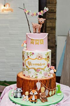 Whimsical Woodland Cake by The Sweetery - by Diana