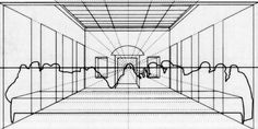 Leonardo Da Vinci - Last Supper, one-point perspective