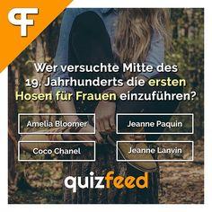 Wer versuchte Mitte des 19. Jahrhunderts die ersten Hosen für Frauen einzuführen?  👋 Wische, um die Antwort zu erfahren.👋 . #fashion #hose #designer #quiz