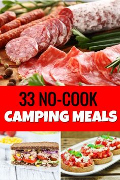 Camping Lunches, Rv Camping, Camping Foods, Camping Breakfast Foods, Lunch Ideas For Camping, Easy Food For Camping, Easy Camping Recipes, Camping Food Hacks, Camping Essentials List