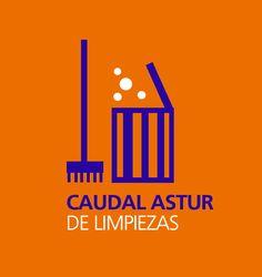 Logotipo para Caudal Astur de Limpiezas, Mieres.