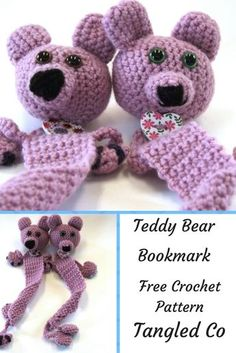 This is a cute bookmark, made in the shape of a teddy bear.  When you close the book on the teddy bear it looks like she is squished between the pages!