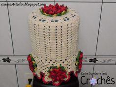 Carine Strieder e seus Crochês: Capa para Galão d'Água em crochê com flores