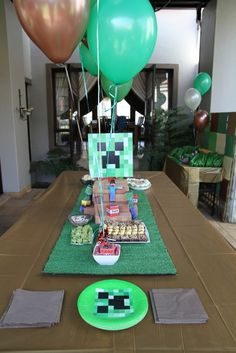 Minecraft party decor #minecraft