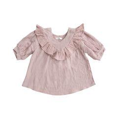 Vintage pink cotton gauze girl blouse