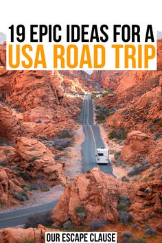Looking for the best road trips in the USA? From stunning deserts to tropical beaches to incredible cities, we've rounded up the best USA road trip ideas here! best road trips in usa Usa Places To Visit, Places To Travel, Places To See, Road Trip Essentials, Road Trip Hacks, Usa Travel Guide, Travel Usa, Road Trip Destinations, Road Trip Usa