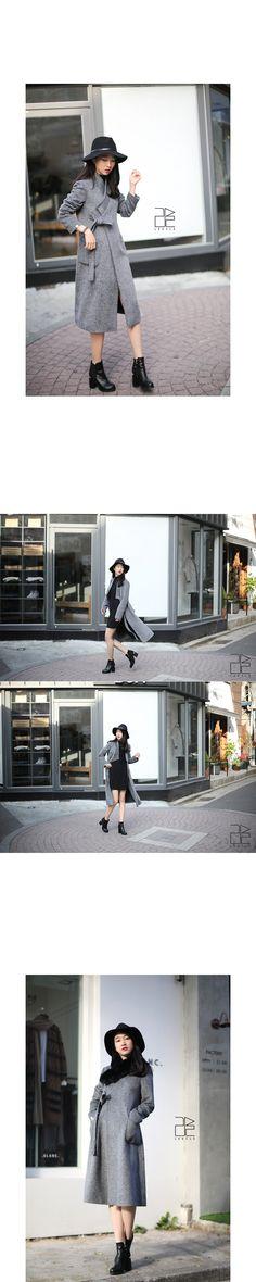 Herringbone coat DURUMAGI [Gray] - 리슬