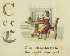 Charlotte: Nieuw Abé boekje : voor lieve kinderen / met eene menigte prentjes en rijmpjes. - Amsterdam : Hendrik Frijlink, [1836]. Aanvraagnummer: BJ 26765.